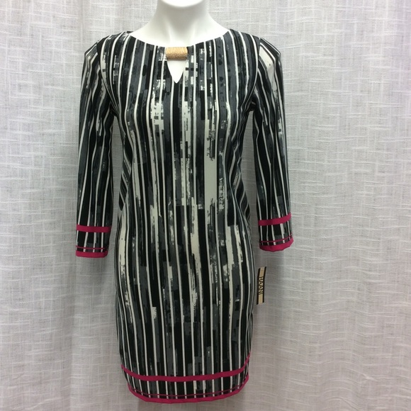 Haani Dresses & Skirts - Haani Black, Gray, white and pink dress Size S